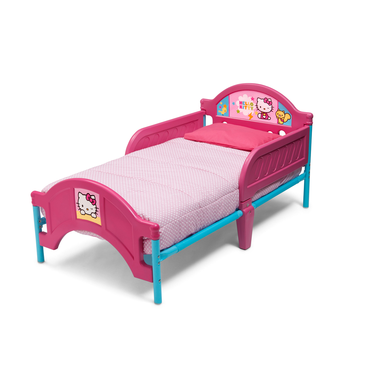 Hello Kitty Toddler Bed.Delta Children Hello Kitty Plastic Toddler Bed