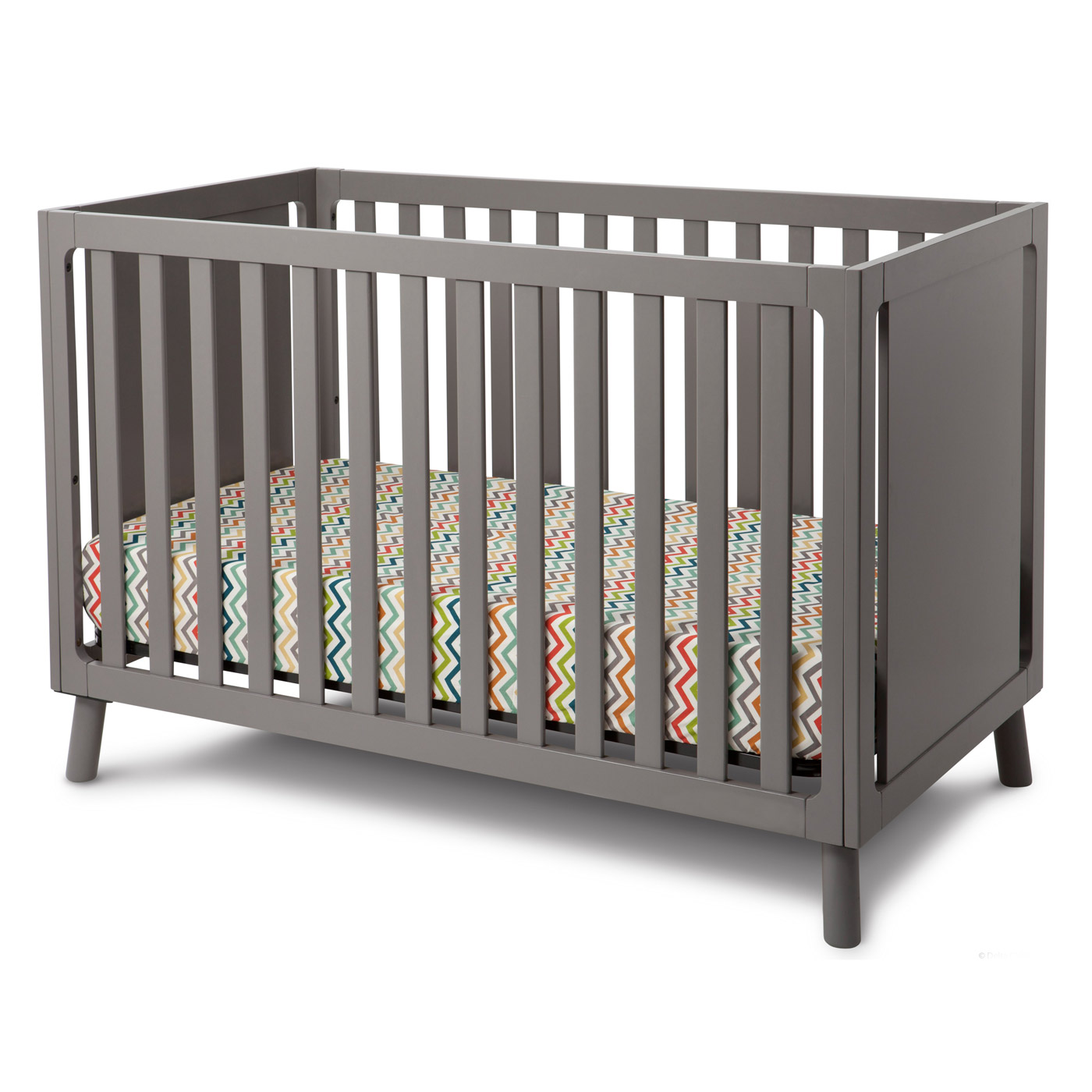 s angled crib bed curved to conversion toddler cribs elite children in products view delta bennington charcoal