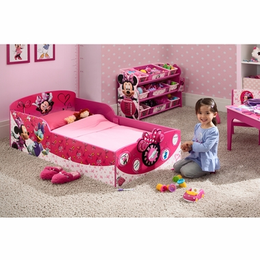 Pleasant Delta Children Minnie Mouse Interactive Wood Toddler Bed Pdpeps Interior Chair Design Pdpepsorg