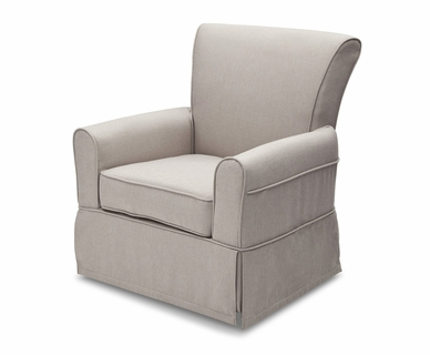 Delta Upholstered Glider in Taupe