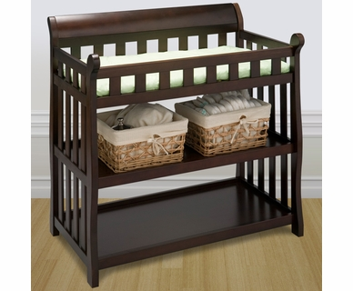 Delta Eclipse Changing Table in Black Cherry