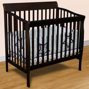 Delta Riley Mini Crib in Chocolate - Click to enlarge