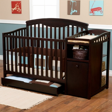 Delta Shelby 4 in 1 Convertible Crib and Changer in Espresso