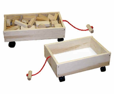 Deluxe Block Wagon / Toy Cart by Beka