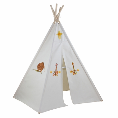 """Dexton 6ft Hideaway Five Panel """"Create Your Own"""" Teepee with Washable Markers"""