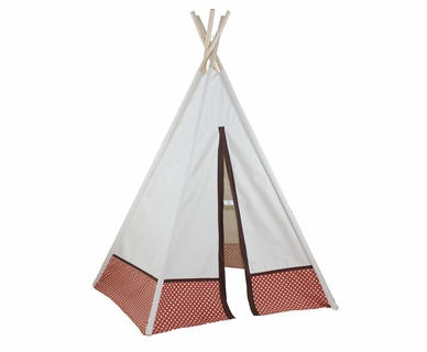 Dexton 6ft Hideaway Orange Polka Dot Five Panel Teepee