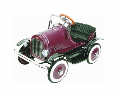Dexton Burgundy Roadster Pedal Car