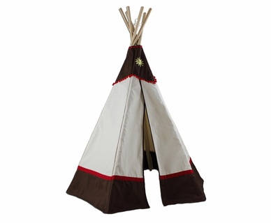 Dexton Kids 6ft Western Teepee in Brown / Natural