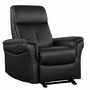 Dezmo Electric Push Button Recliner with Glider Motion in Bonded Black Leather