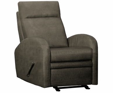 Dezmo Lever Actuated Recline and Glider Arm Chair with Dark Grey Microfiber