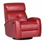 Dezmo Push Button Recline Swivel Glider Arm Chair in Red Bonded Leather