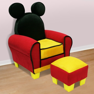 disney mickey mouse icon toddler chair ottoman by delta
