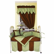 Dots Green Crib Bedding Collection by Hoohobbers