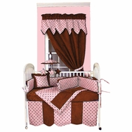Dots Pink Crib Bedding Collection by Hoohobbers