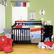 Dr. Seuss Cat in the Hat Crib Bedding Collection by Trend Lab