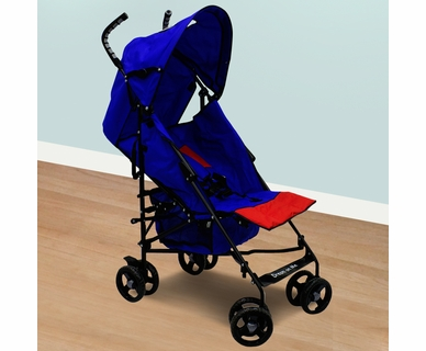 Dream on Me Aluminum 5 Poisition Stroller in Red and Blue