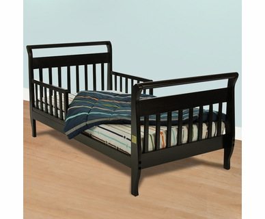 Dream on Me Classic Sleigh Toddler Bed in Black