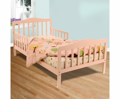 Dream on Me Contemporary Toddler Bed in Pink