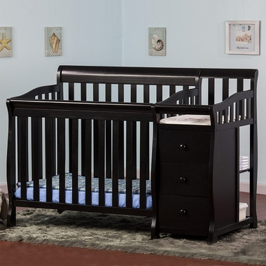 Dream On Me Jayden 2 in 1 Convertible Baby Crib with Changer in ...