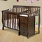 Dream On Me Jayden 2 in 1 Convertible Baby Crib with Changer in Espresso
