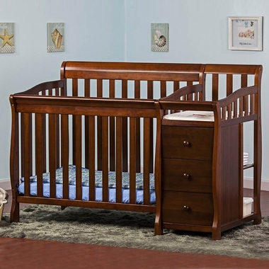 Dream On Me Jayden 2 In 1 Convertible Baby Crib With Changer Espresso Click