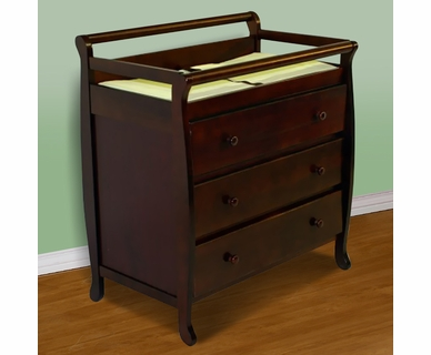 Dream on Me Liberty Collection 3 Drawer Changing Table in Cherry