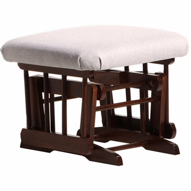 Dutailier Coffee Ottoman for Sleigh and 2 Post Gliders with Light Grey Cushions - Click to enlarge