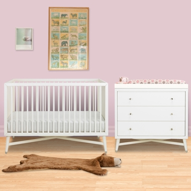 dwellstudio 3 piece nursery set mid century crib