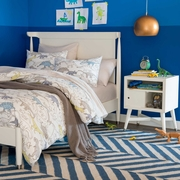 Dwellstudio Mid Century 2 Piece Kids Bedroom Set Full Size Bed And Nightstand In White