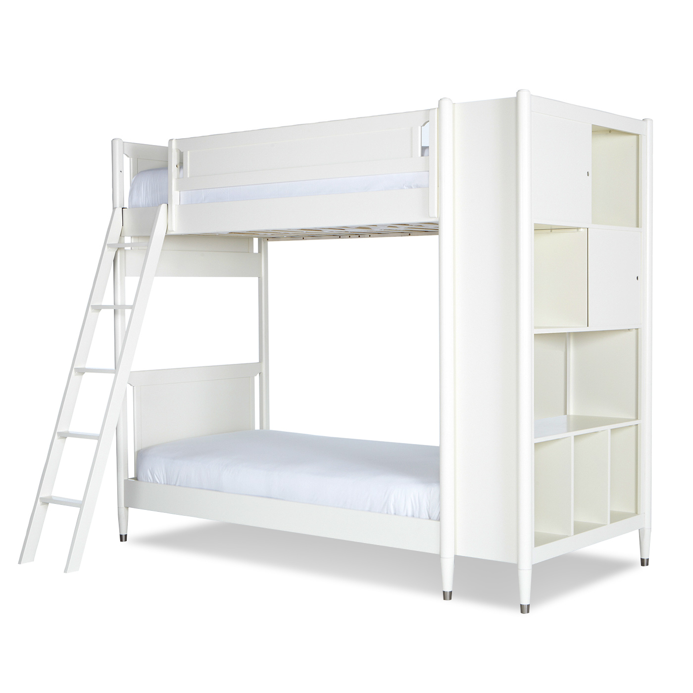 Dwellstudio Mid Century Library Bunk Bed In White Free Shipping