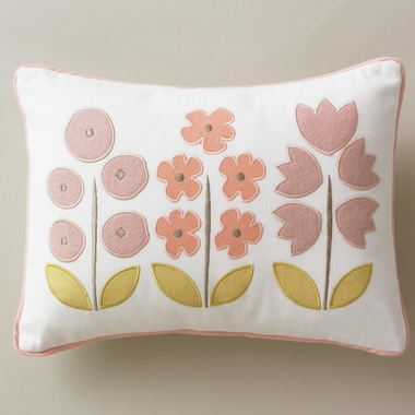 DwellStudio Rosette Blossom Boudoir Pillow - Click to enlarge
