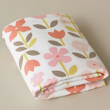 DwellStudio Rosette Blossom Fitted Crib Sheet - Click to enlarge