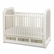 DwellStudio Vanderbilt Convertible Crib in French Gray
