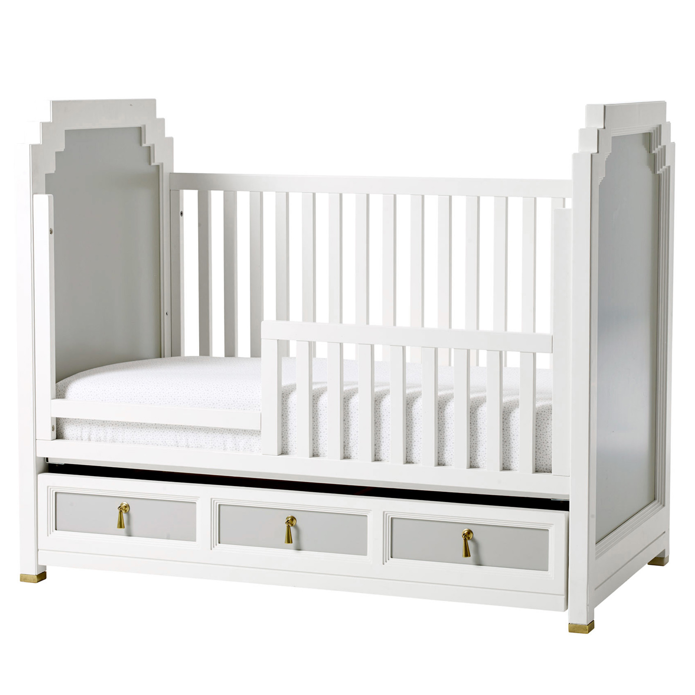 DwellStudio Vanderbilt Crib in French Gray FREE SHIPPING
