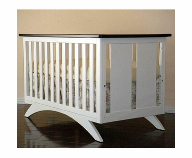 Eden Baby Madison 3 in 1 Convertible Crib in Espresso and White