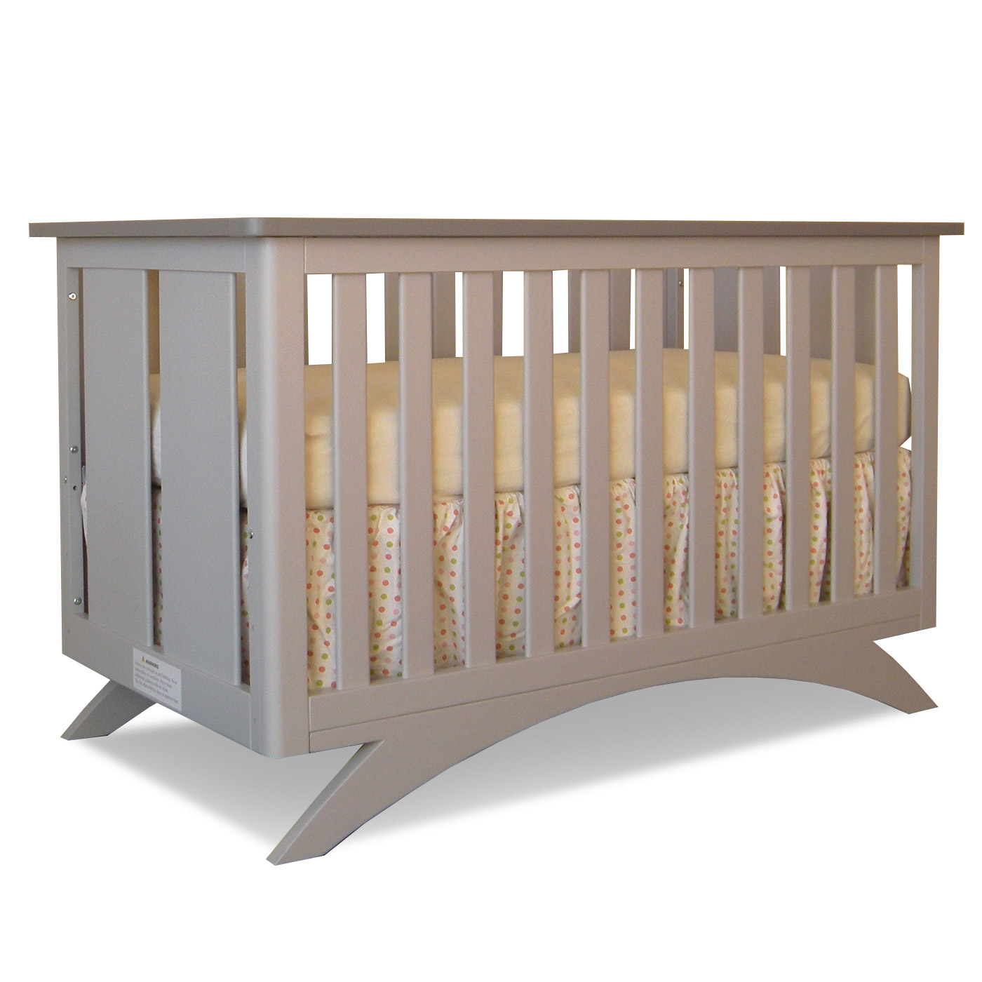Eden baby madison 3 in 1 convertible crib in pebble grey seal grey free shipping