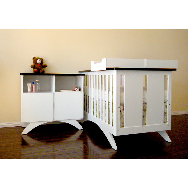 Eden Baby Madison 3 Piece Set With 3 In 1 Convertible Crib Combo Dresser And Changing Table Mat Frame In White Espresso