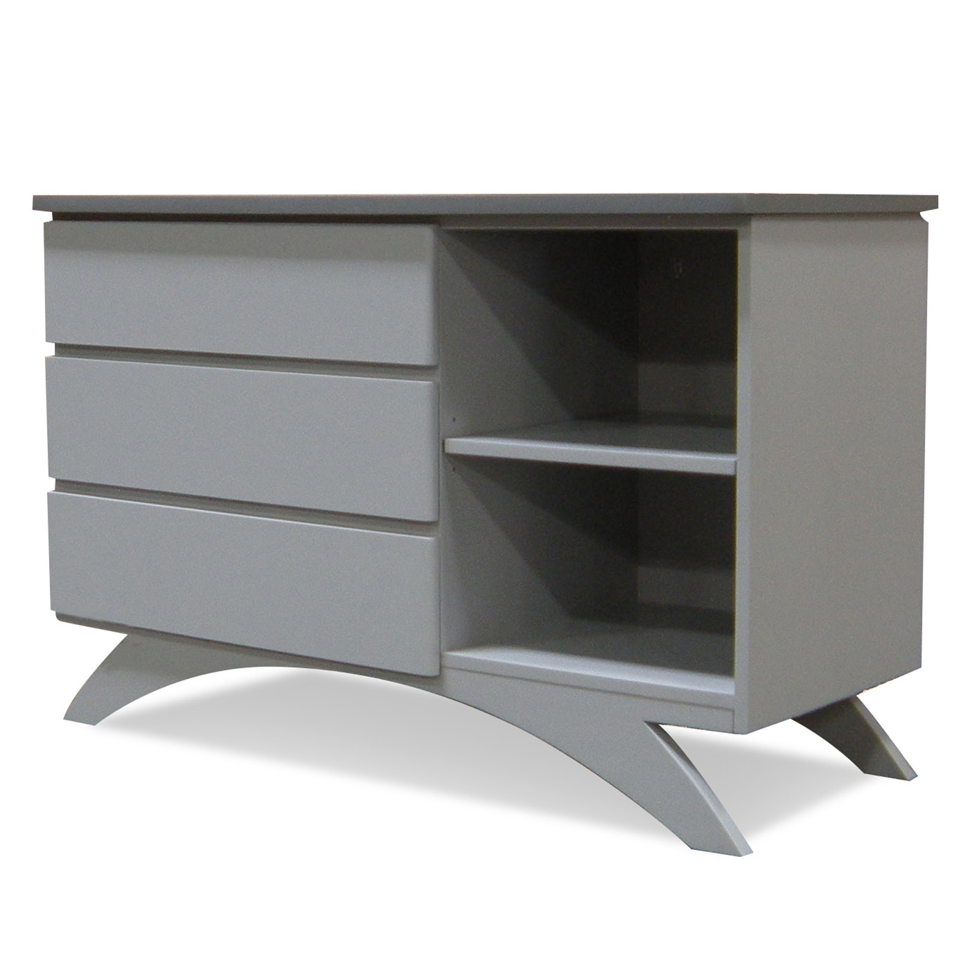 Eden Baby Madison Combo Dresser With 3 Drawers In Pebble Grey Seal Free Shipping