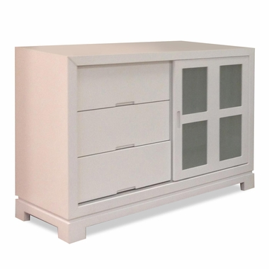 Superieur Eden Baby Melody Sliding Door 3 Drawer Dresser In White   Click To Enlarge