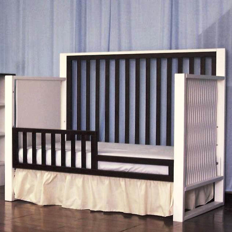 Exceptionnel Eden Baby Moderno 4 In 1 Convertible Crib In Espresso And White FREE  SHIPPING