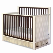 Eden Baby Moderno Convertible Crib in White and Espresso