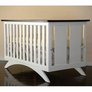 Eden Baby Madison Convertible Crib in White and Espresso