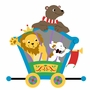 Elephants on the Wall Circus & Carousel Bear, Lion & Pooch Car Paint by Number Wall Murals