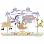 Elephants on the Wall Circus & Carousel Carousel of Critters Paint by Number Wall Murals