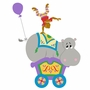 Elephants on the Wall Circus & Carousel Hippo & Monkey Car Paint by Number Wall Murals