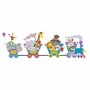 Elephants on the Wall Circus & Carousel Small Circus Train Paint by Number Wall Murals