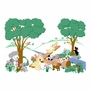 Elephants on the Wall Dogs, & More Dogs Small Puppy Playground Paint by Number Wall Murals