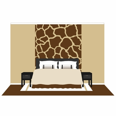 Elephants on the Wall Mega Murals Large Giraffe Spots Paint by Number Wall Murals