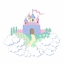 Elephants on the Wall Princess & Castle Small Princess Castle Paint by Number Wall Murals