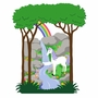 Elephants on the Wall Princess & Castle Small Unicorn & Rainbow Paint by Number Wall Murals